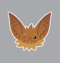bat emotional head blink eye emoji smiley icon vector image
