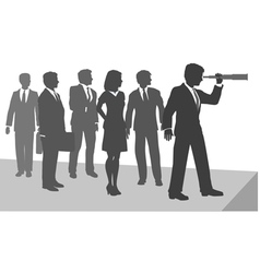 business person telescope vector image vector image