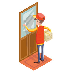 express courier special delivery boy man messenger vector image vector image