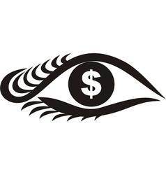Money Eyes vector image