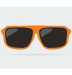 Orange hipster sunglasses vector
