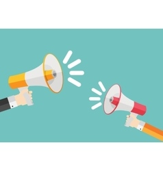 Social Media Marketing Icon Hand with Megaphone vector image