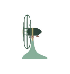 fan green electric front view design style circle vector image vector image