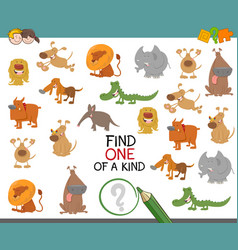 find one of a kind with animals vector image vector image