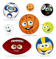 funny balls vector image