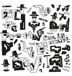 jazz party doodles vector image