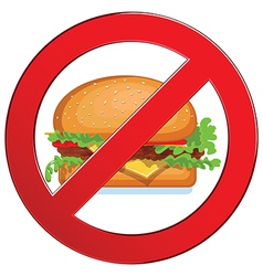 Sign forbidden fast food vector image vector image