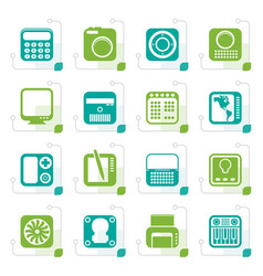 stylized hi-tech and technology equipment vector image vector image
