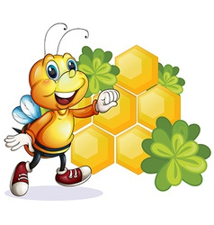 A smiling bee vector image