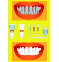 Bleaching of teeth vector image vector image
