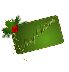 green merry christmas card vector image vector image