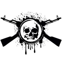 skull akm blood vector image