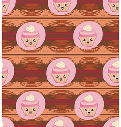 Cute Cupcakes pattern vector image vector image