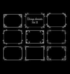 decorative ornamental frames vintage vector image
