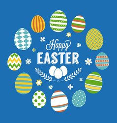 happy easter typographic poster vector image vector image