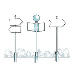 Some blank signposts vector image vector image