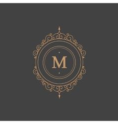 Vintage retro monogram restaurant hotel vector image vector image