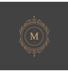 Vintage retro monogram restaurant hotel vector image