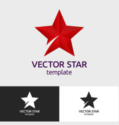 abstract geometric icon star logo vector image