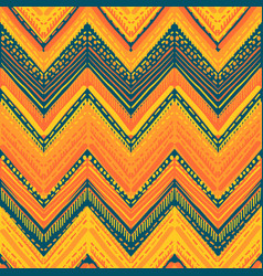 abstract ikat and boho style handcraft fabric vector image