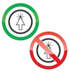 Arrow cursor permission signs vector