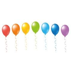 Balloons rainbow vector