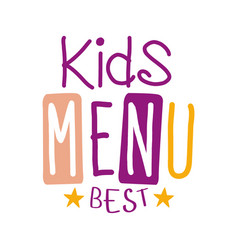 Best kids food cafe special menu for children vector