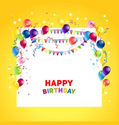 birthday holiday ballons vector image
