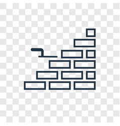 brick wall concept linear icon isolated on vector image