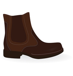 Brown boot vector image vector image