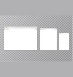 browser windowweb browser in flat style window vector image