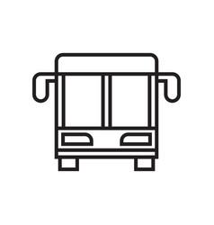 Bus line icon vector