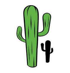 Cactus icon cartoon vector