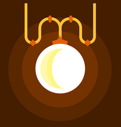Chandelier icon flat style vector