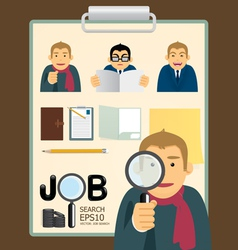 Characters job search set vector