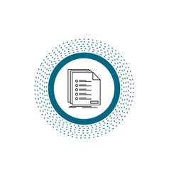 Check filing list listing registration line icon vector