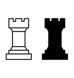 chess tower icons vector image