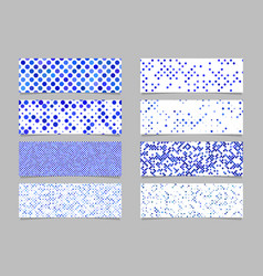 circle pattern banner background set - modern vector image