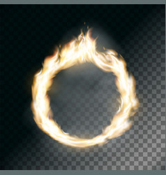 circus ring on fire vector image