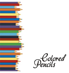 Close up of color pencils with different color ove vector image
