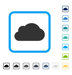 Cloud framed icon vector