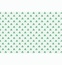 clover leaves pattern for st patricks day vector image