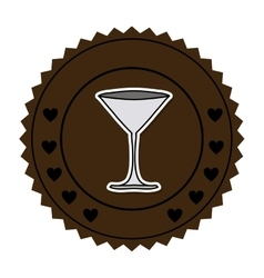 color round frame with martini glass vector image