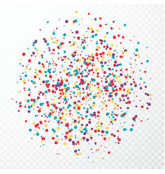 Colorful circular confetti splash isolated on vector
