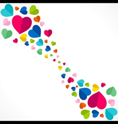 creative colorful valentine day greeting card vector image