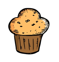 cupcake muffin vector image