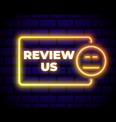 Customer review icon in neon line style user vector