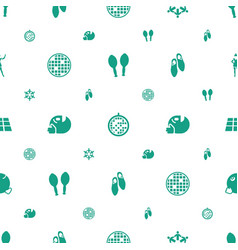 Dance icons pattern seamless white background vector