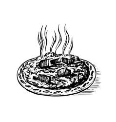 doodle sketch pilaf oriental vector image