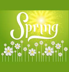 Elegant spring invitation card vector